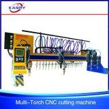CNC van de brug de Rechte Scherpe Machine van de Vlam voor de Stof van de Straal van H