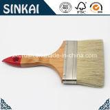 Brosse de peinture pure de brin de poignée en bois