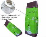 Sacchetto a chiusura lampo del di alluminio del sacchetto della parte inferiore piana per l'imballaggio del caffè del gocciolamento