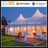 Barraca permanente de Qatar do partido de alumínio ao ar livre do famoso do casamento do PVC da estrutura do partido do Pagoda