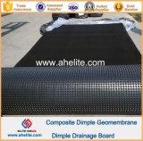 HDPE Dimple Membrana Junta de drenaje impermeable 0.6mm 10mm 150g