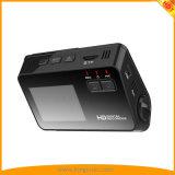 "2 "" LCDスクリーンのHD 1080P 720p VGA、170&degが付いている二重カメラ車DVRのレコーダー; 広角レンズのダッシュのカメラ"