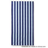 Из чистого хлопка полосами на пляже полотенце