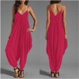 女性の衣服のためのローカットの服装セクシーなカラーシャムのズボン