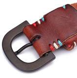 Correias de cintura de couro de Brown do estilo do vintage do baixo preço da fábrica de China