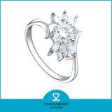 Sparkle anillo plata con 1PC MOQ (R-0586)
