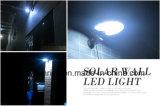 옥외 정원 빛 램프가 방수 LED 태양 에너지 문 담 벽에 의하여 점화한다
