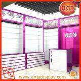 Mostrador de loja de madeira com design de vidro de 5 níveis