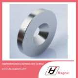 Super Power Customized N35 Zinc ring permanent Neodymium /NdFeB Magnet in China