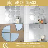 стекло зеркала Frameless шкафа ливня 6mm круглое серебряное с снятыми кромками
