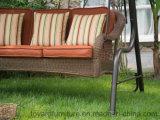 o Hammock do balanço do jardim 3-Seaters com o vime do Rattan tecido para o bebê caçoa USA/UK/Canada