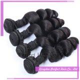 I capelli brasiliani del Virgin di estensioni dei capelli umani del Virgin slacciano l'onda