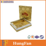 Золотистая коробка упаковки подарка бумаги цвета для подарков