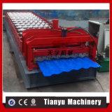 Tuiles de toiture en acier de fer ridant la machine de formage à froid de tuiles