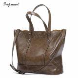 Les femmes Vintage Shouder sac fourre-tout cuir synthétique 2PCS/Définir des sacs à main