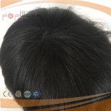 Plena Handtied PU borde personalizado peluca (PPG-L-0305)