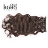 Una clip riccia crespa all'ingrosso da 22 pollici dei capelli umani di Remy nelle estensioni