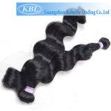 Cheveu noir brésilien de gicleur, cheveux humains