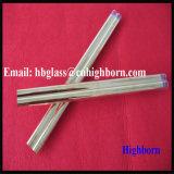 Orificio de doble capa de oro fundido del tubo de cristal de cuarzo.