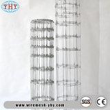 高力電流を通された鋼線の網の塀