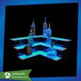 sostenedor de acrílico de la visualización de 2-Tier LED Champán