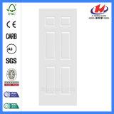 Piel blanca de madera moldeada de la puerta de la pintura de fondo (JHK-006)