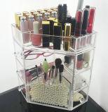 Organizador cosmético acrílico pequeno por atacado