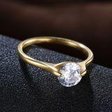 De Juwelen van de Ring van de Manier van de Diamant van CZ van de Vrouwen van het roestvrij staal