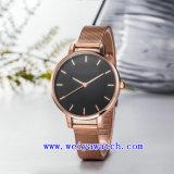 Reloj de señoras de la voga del reloj de la promoción del acero inoxidable (WY-17037B)