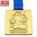 低価格の新しいデザイン習慣によって個人化される3Dはレプリカのドラゴンをダイカストの金によってめっきされるフィニッシャーの金属賞メダルを浮彫りにする