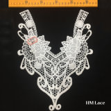 25*30cm Boga Bridal leche Soluble en agua de seda bordado de encaje de fresado Collar de tela accesorios con flores blancas y las curvas de la moda Hml8580