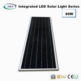 80W PIR 센서를 가진 통합 LED 태양 가로등