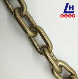 catena a maglia gialla di Chromated G70 dello zinco di 8mm