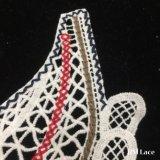 do laço branco bonito de Venise da flor da tela de algodão do leite do engranzamento de 27*25cm acessórios de roupa U-Solúveis Sewing Hm2026 das senhoras do colar do laço do ofício do Applique DIY