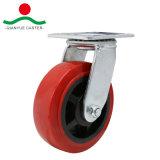 Red PU girar com o freio do lado do Rodízio de Serviço Pesado