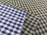 El hilo de algodón teñió la verificación Fabric-Lz8734 del hilado de la mezcla del telar jacquar