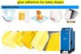 La Chine fournisseur serviette hygiénique des couches pour bébés de gros de matières premières de la colle hot melt