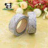 熱い販売大きい灰色の大理石デザイン和紙の取り外し可能な習慣はWashiテープを作る