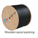 氾濫の混合物PVC黒いジャケット305m/Drumが付いている工場価格の標準盾RG6 CATV/CCTVの同軸ケーブル