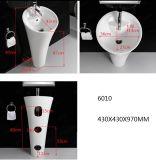 衛生製品の陶磁器のワンピースの軸受け洗面器6010