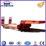 Fabricante Jushixin ejes 3/4 100t semi remolque cama baja