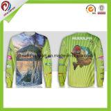 Beruf-neuer Entwurfs-Zoll sublimierte lange Hülsen-Fischen-Hemden