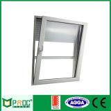 Ventana de aluminio de la inclinación y de la vuelta de Pnoc003ttw