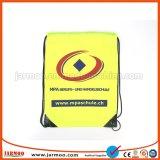 Bolsa de cordón de Nylon amarillo impreso