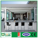 Pliage en aluminium Pnoc080911ls fenêtre utilisée pour salle de bains
