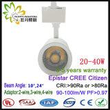 40W diodo emissor de luz popular Tracklight com luz bonita do ponto da trilha da ESPIGA do escudo 40W