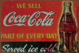 Publicidade de bebidas pendurado na parede sinal de Metal