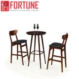 Qualitäts-hölzerne lederne Bistro-Stab-Schemel-Stühle für Verkauf (FOH-BCA76)