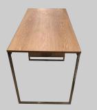 Escritorio de madera barato de la cabina de la oficina del acero inoxidable