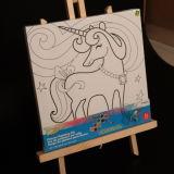 Dessin de chevreau chevalet en bois / planche à dessin de chevalet dessin permanent Stand dessin magnétique Mjk-004